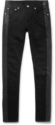 Alexander McQueen Skinny-Fit Striped Stretch-Denim Jeans