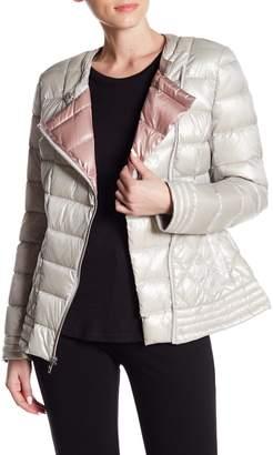 Via Spiga Asymmetrical Puffer Moto Jacket