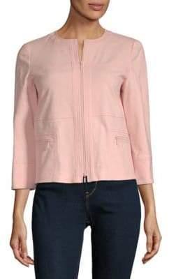 Lafayette 148 New York Deb Zip-Front Jacket
