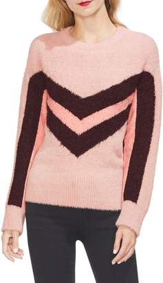 Vince Camuto Tinsel Chevron Sweater