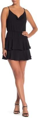 BCBGeneration Cowl Neck Ruffle Dress