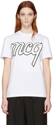 McQ Alexander McQueen White Classic Logo T-Shirt $220 thestylecure.com