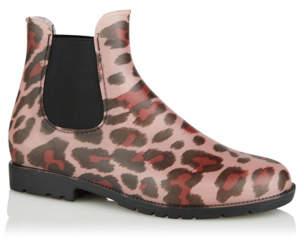 f8c5e33dc George Pink Leopard Print Chelsea Wellington Boots