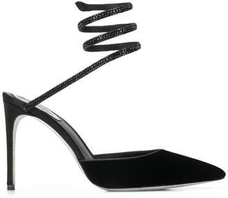 Rene Caovilla embellished ankle strap pumps