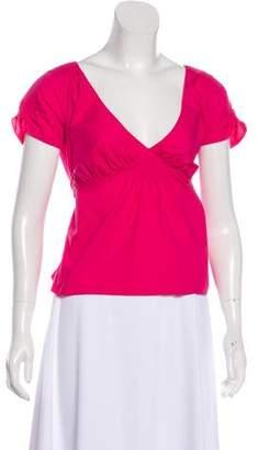 Marni Short Sleeve Sash Tie Top