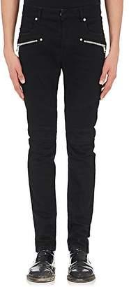 Balmain Men's Skinny Biker Jeans - Black