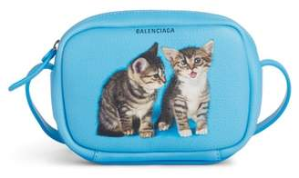 Balenciaga Extra Small Kittens Calfskin Leather Camera Bag