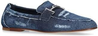 Tod's Denim Horsebit Loafers