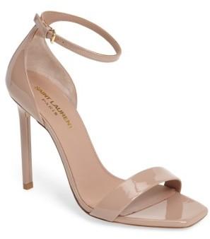 Women's Saint Laurent Amber Ankle Strap Sandal $695 thestylecure.com