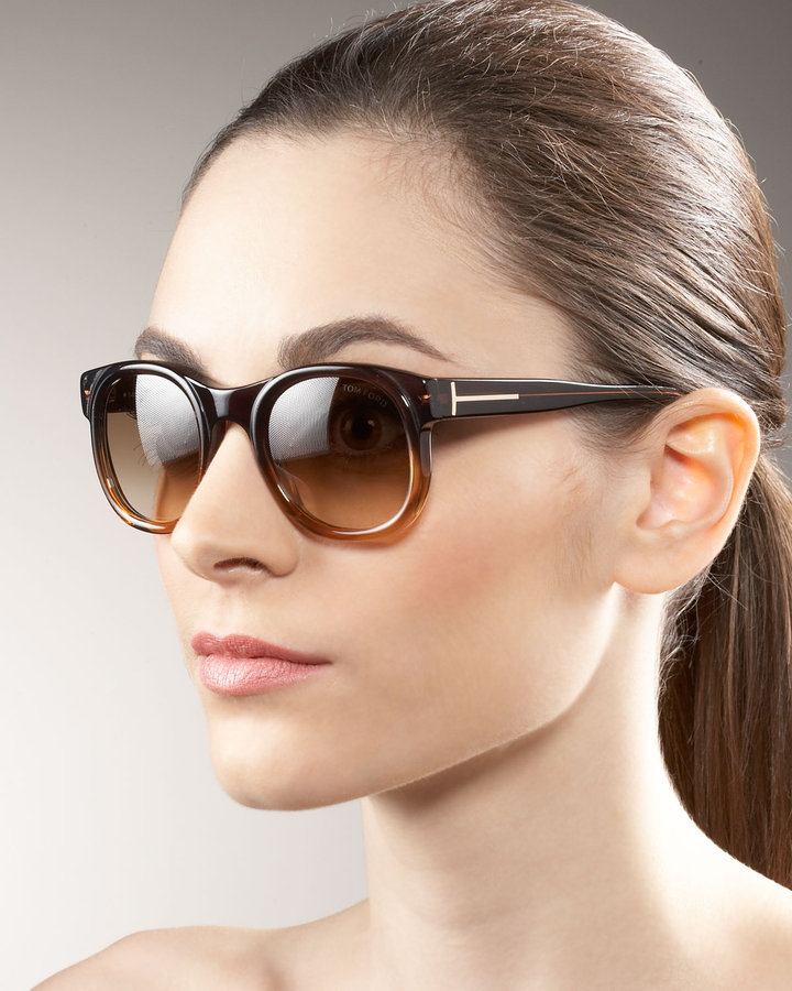 Tom Ford Round Plastic Sunglasses