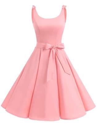 Bbonlinedress Women's 1950's Vintage Retro Bowknot Polka Dot Rockabilly Swing Dress S