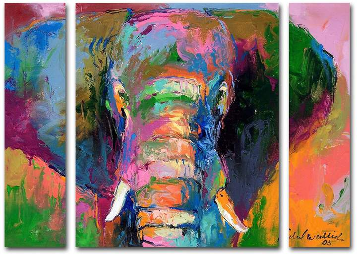 Buy Richard Wallich 'Elephant 2' Multi Panel Art Set Large!