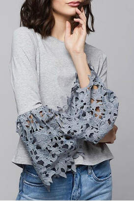 Design History Lace Sleeve Top