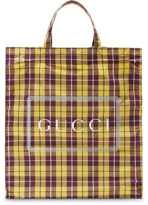 Gucci Medium print check tote