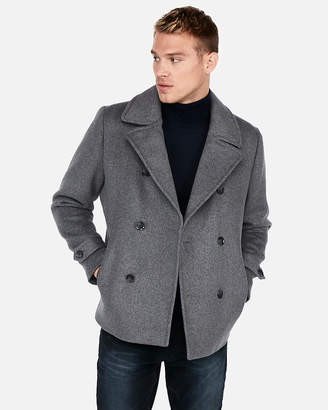 Express Recycled Wool Zip Pocket Peacoat
