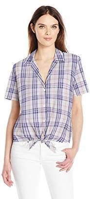 Equipment Women's Short Sleeve Keira Tie Front Shirt