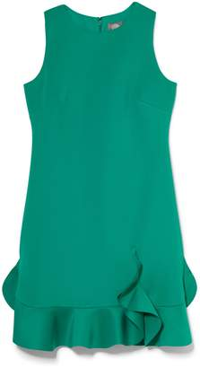 Vince Camuto Scuba Ruffle-Hem Dress