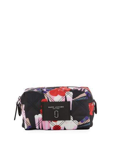 Marc Jacobs Marc Jacobs Geo Spot Printed Nylon Cosmetic Bag, Black/Multi
