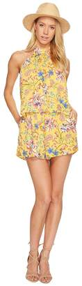 L-Space Kelly Pacific Bloom Romper Cover-Up Women's Swimsuits One Piece