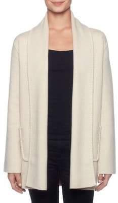 Joan Vass New York Shawl Collar Longline Coat