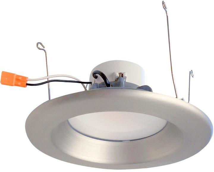 EnviroLite 6 in. Recessed LED Ceiling Light with Brushed Nickel Trim Ring, 2700K, 90 CRI (12-Pack)