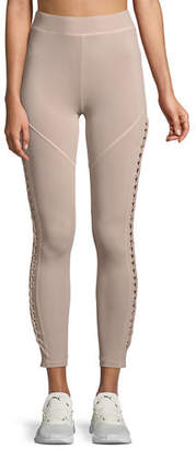 Cushnie et Ochs Leyla Ankle-Length Performance Leggings with Lace-Up Sides