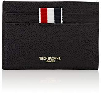 Thom Browne Men's Striped-Inset Leather Card Case
