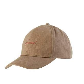 accsa Women Vintage Texting Distressed Washed Cotton Twill Baseball Cap Adjustable Strap