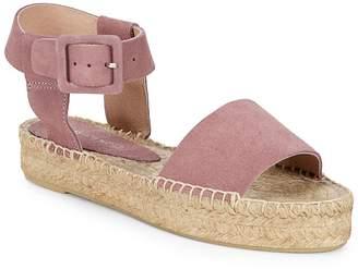 Saks Fifth Avenue Women's Leather Ankle-Strap Platform Espadrilles