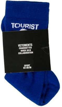 Vetements x Reebok 2018 Tourists Information Socks w/ Tags