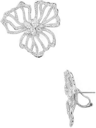 Nadri Corsage Large Flower Earrings