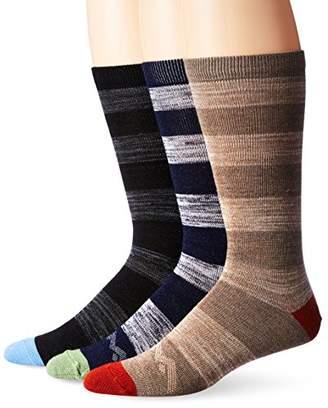 High Ridge Gear Men's 3 Pack Rugby Stripe Dress Crew Socks