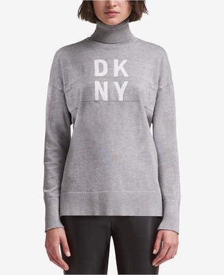 DKNY Logo Turtleneck Sweater