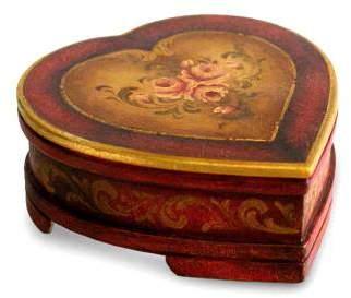 Timeless Love Women's Heart Shaped Handmade Cedar Jewelry Box