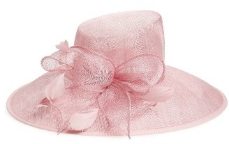 Women's Nordstrom Asymmetrical Sinamay Derby Hat - Pink $69 thestylecure.com