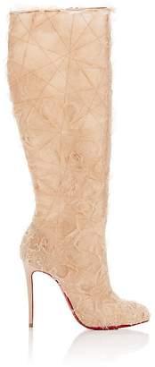 Christian Louboutin Women's Toualtafrou Organza Knee Boots