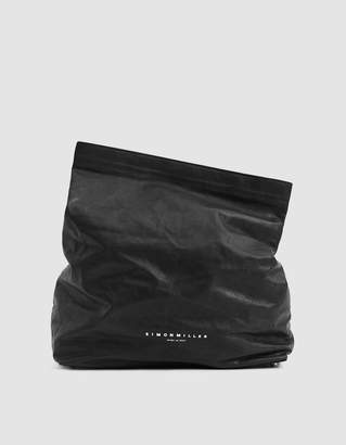 Simon Miller Lunch Bag Leather Clutch in Black