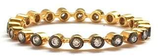 18k Yellow Gold (Oxidised) Diamond Band