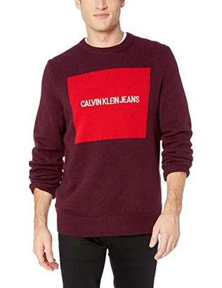 Calvin Klein Jeans Men's Crewneck Logo Sweater