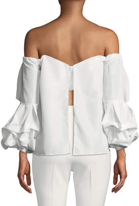 STYLEKEEPERS Juliette Bow Off-the-Shoulder Top