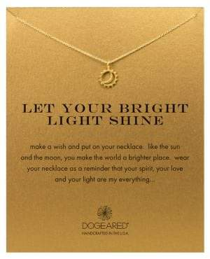 Dogeared 'Let Your Bright Light Shine' Pendant Necklace