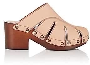 Chloé Women's Quinty Leather Clogs-Beige, Tan