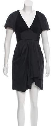 Tibi Lace Accented Mini Dress