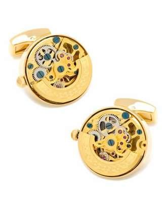 Cufflinks Inc. Golden Watch Movement Cuff Links $275 thestylecure.com