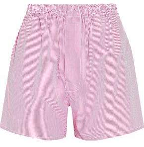 Maison Margiela Striped Cotton-Poplin Shorts