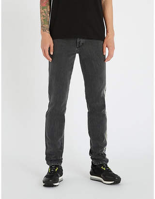 Givenchy Faded side-stripe slim-fit tapered jeans