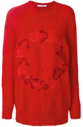 Givenchy floral motif sweater