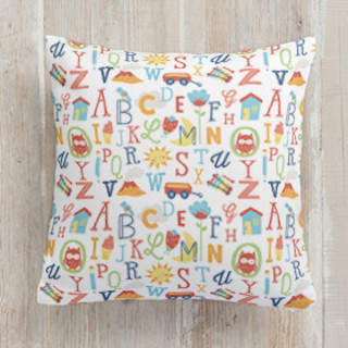 Just My Type Square Pillow