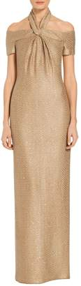 St. John Glimmer Sequin Knit Gown