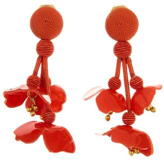 Oscar de la Renta Carnelian Falling Flower Earrings